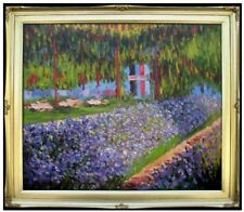 Claude Monet Garden at Giverny Repro, Quality Hand Painted Oil Painting 20x24in