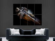 Maschinengewehr Poster automatische Waffe Umfang Sturmgewehr Armee Large Giant Wall