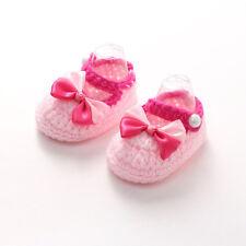 Newborn Girls Crib Crochet Knit Casual Shoes Baby Infant Sock Soft Sole
