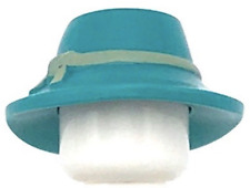 Lego New Dark Turquoise Minifig Headgear Hat Wide Floppy Brim with Knotted Band