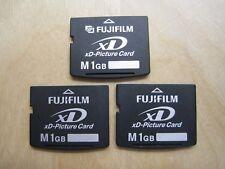 Lot of 3 Fujifilm M 1GB xD Picture Memory Card (DPC-M1GB)