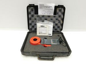 AEMC 3711 Clamp-On Ground Resistance Tester Meter w/ Case & Accessories