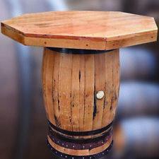En chêne massif whisky tonneau huit face bar table | Patio Table | mobilier de jardin