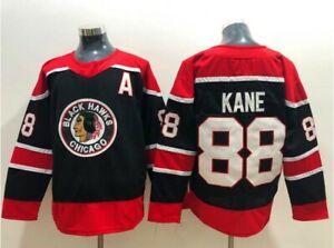 Reverse Retro Chicago Blackhawks Jersey Hockey 88 Patrick Kane