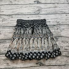 Band Of Gypsies Women's Crinkle Full Mini Skirt Size XS