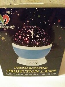 Star Master-Dream Rotating-Color Changing Projection Lamp-Blue-Room Decor-NOB
