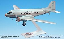 American Flagship Knoxville DC-3 Airplane Miniature Model Plastic Snap Fit 1:100