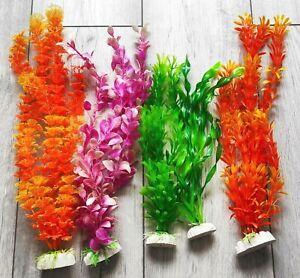 "5 x Aquarium Fish Tank Plant Plastic Grass Decoration Ornament(3""/4""/8""/12""/16"")"