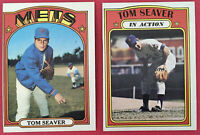 1972 Topps #445 TOM SEAVER and #446 Tom Seaver IA (In Action)