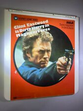 Dirty Harry in Magnum Force CED Videodisc (Red cover) *Good condition* RARE