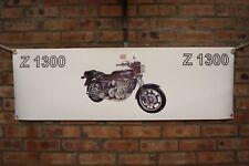 Kawasaki z1300 large pvc  garage work shop banner man cave show banner