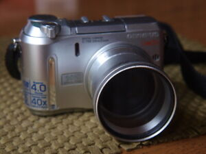 Olympus CAMEDIA C-750 Ultra Zoom 4.0MP Digital Camera w/ Extension Tube Tested!