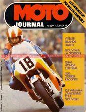 MOTO JOURNAL  239 HONDA TL 250 YAMAHA RDX 125 NORTON Husqvarna 360 1975