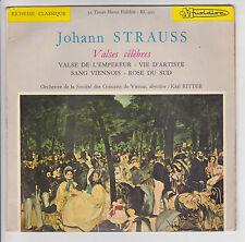 Johann STRAUSS Vinyl 33T 17cm VALSES CELEBRES Vienne K RITTER -MUSIDISC 425 RARE