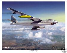 """Boeing B-47 Stratojet Bomber  Aviation Art Print - 11"""" x 14"""""""