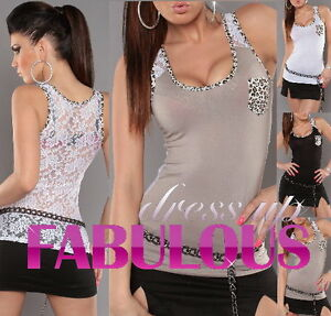 NEW WOMEN'S TOP PARTY CASUAL EVENING SINGLET SHIRT CLOTHES Size 4 6 8 10 S M
