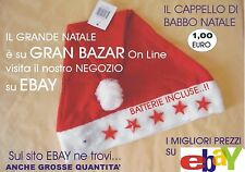 NATALE CAPPELLINO LUMINOSO Batterie Incluse