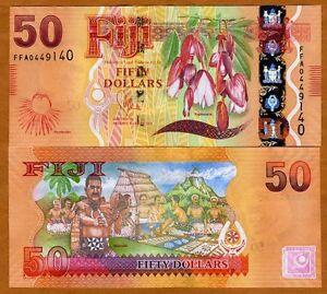 FIJI, 50 dollars, 2012 (2013), Pick 118  UNC > New Design, latest colorful issue