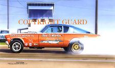 Sox & Martin's 66 Nitro Barracuda... Drag Racing Art Print
