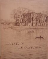F. BOUCHER Les reflets de l' ILE SAINT-LOUIS Lithos de SANTERNE NUM PARIS