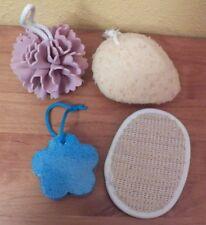 Mixed Lot of 4 Avon Planet Spa Flower Sponge Pumice Sisal Hand Sponge NWOT