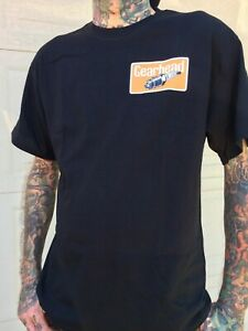 Gearhead Brand Spark Plug Mens T Shirt Two Sided Hot Rods Kustoms Cars  Greaser