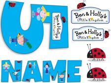 Ben and Holly inspirado en nombre y número Personalizado Comestible Glaseado Tarta Topper