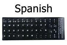 Spanish Keyboard Stickers English Spain Fonts Standard keyboard Sticker white