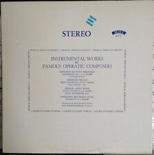 Bellini, Gluck -  Instrumental Works by Famous Operatic Composers LP NM-MHS 635