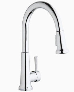 Elkay Everyday Chrome 1-Handle Deck-Mount Pull-Down Handle Kitchen Faucet