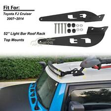 "52"" Curved LED Light Bar Roof Mounting Brackets Fit For 07-14 Toyota FJ Cruiser"