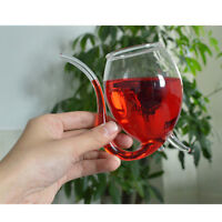 300ml White Wine Glass Vampire Devil Wine Glass With Tube Straw unique creative