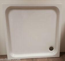 Plato de ducha acrílico en la atemporal Diseño, blanco, #D123, 100x100x6,5 cm