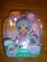 """Shimmer and Shine LAYLA  6"""" Doll Comb Snowflake Shape 6 Inches Nickolodean"""