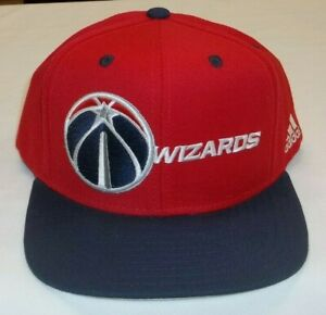 Washington Wizards Flat Bill Snapback Hat By Adidas - OSFA - New