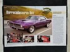 1970 Plymouth Barracuda Gran Coupe - 6 Page Article - Free Shipping