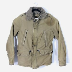 Abercrombie and Fitch New York B-9 Jacket Size S Bomber Jacket Army Green