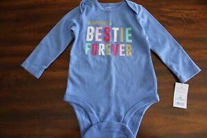 CARTER'S*Baby Diaper Shirt/Cover*Bodysuit*Long Sleeve*Auntie's Bestie*12 Months*