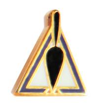 Trowel In Broken Triangle Tiny Cryptic Freemasonry Masonic Pin Badge
