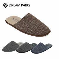 Men's Memory Foam Slippers Knitted Anti-slip Indoor/Outdoor Slip On House Shoes