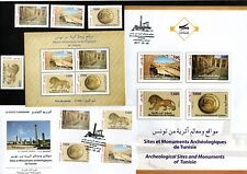2017- Tunisia- Archeological Sites and Monuments of Tunisia-Stamps+MS+FDC+Notice