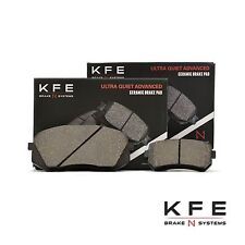 Premium Ceramic Disc Brake Pad FRONT + REAR NEW Set With Shims KFE1295 KFE1398