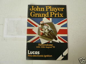 1976 BRITISH MOTORCYCLE GRAND PRIX SILVERSTONE ENTRY LIST 14/15 TH AUGUST SHEENE