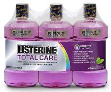 3 pk Listerine Total Care Mouthwash Fresh Mint 1 Liter Each