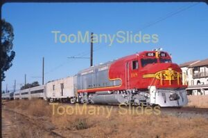 Original slide- ATSF Santa Fe FP45 #108 FRESH Restored Paint & Pass.Train 11/19