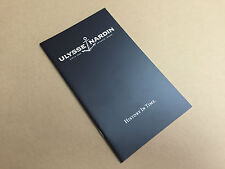 New - Catalogue ULYSSE NARDIN - History in Time - English - For Collectors
