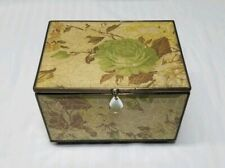 Vintage Jewelry/Trinket Box with Hinged Lid