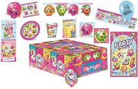 SHOPKINS BIRTHDAY PARTY  SUPPLIES Napkins Plates Cups Tablecover Decorations etc