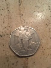 2006 50P COIN RARE HEROIC ACT MAN 60 YEARS SINCE END OF WW2 FIFTY PENCE