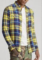 Polo Country Ralph Lauren Medium Yellow Buffalo Plaid Shirt RRL Hunting Western